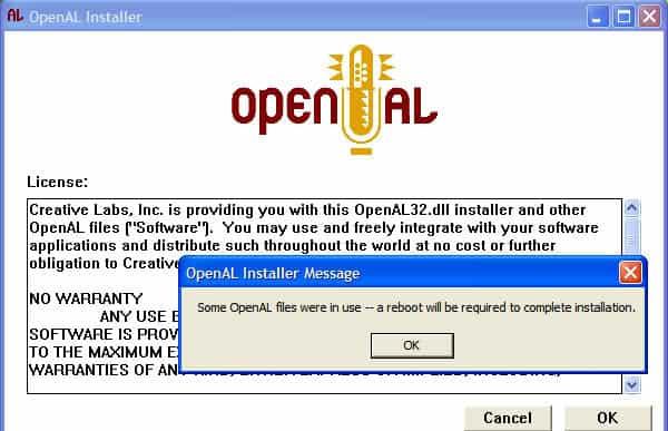 openal32.dll is missing windows 7